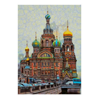 Church of the Savior on Blood in St. Petersburg Poster
