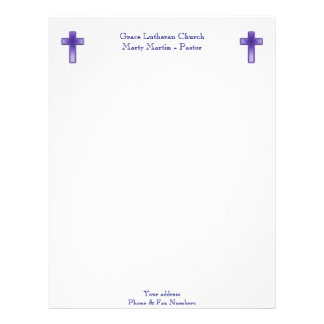 Church or Pastor Letterhead