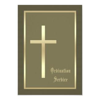 Church Ordination Invitation Cross Invitation