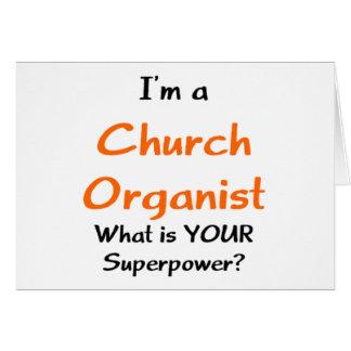 church organist card