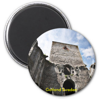 Church Ruins in Visby Sweden, Gotland Sweden Magnet