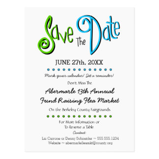 Church, School, Business Event Save the Date Postcard