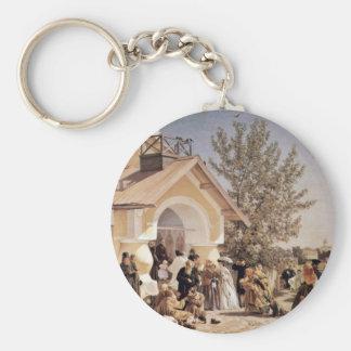 Church Starting In Pskov Keychains