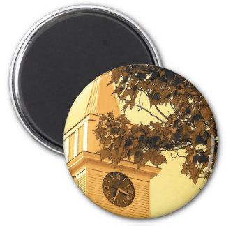 Church Steeple 2 Inch Round Magnet