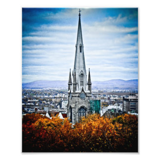 Church Steeple in Old Quebec City Photo Art