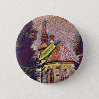 Church Steeples Artistic Photo Manipulation 2 Inch Round Button