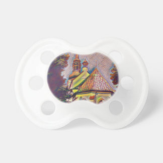 Church Steeples Artistic Photo Manipulation Pacifier