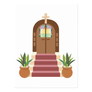 Church Steps Postcard