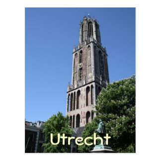 Church tower postcard
