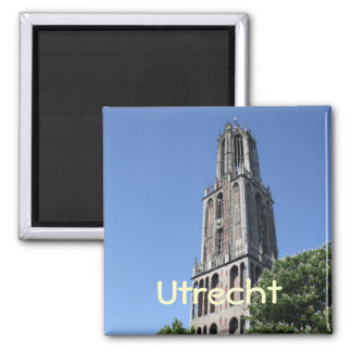 Church tower square magnet