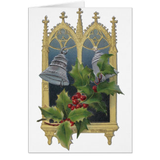 Church Window and Bells Greeting Card