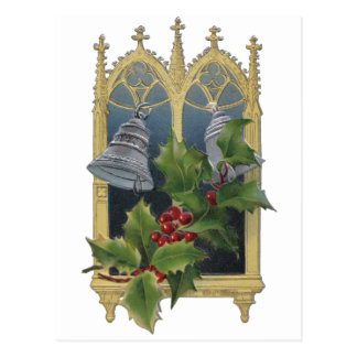 Church Window and Bells Postcards
