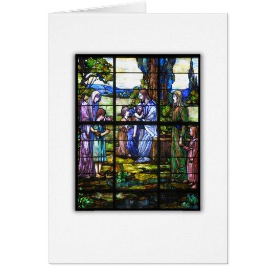 CHURCH WINDOW CARD