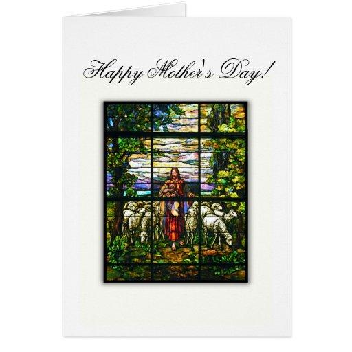 CHURCH WINDOW - EASTER LAMB - Customized Card
