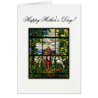 CHURCH WINDOW - EASTER LAMB - Customized Greeting Card
