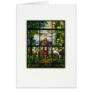 CHURCH WINDOW - EASTER LAMB GREETING CARD