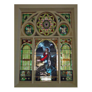 Church Window Postcard