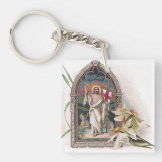 Church Window Resurrection of Christ Keychain