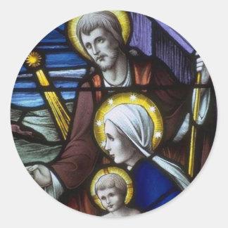 Church Windows 019 Round Sticker