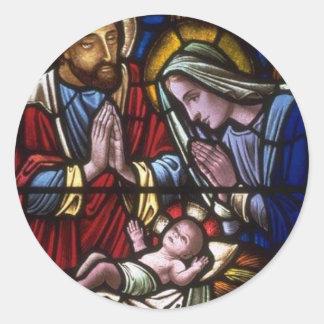 Church Windows 022 Round Sticker