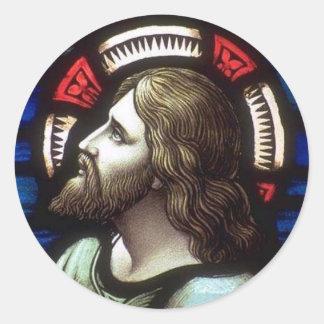 Church Windows 025 Round Sticker