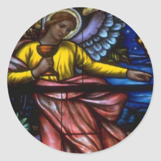 Church Windows 042 Round Sticker