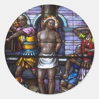 Church Windows 050 Round Sticker