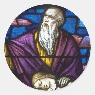 Church Windows 065 Round Sticker