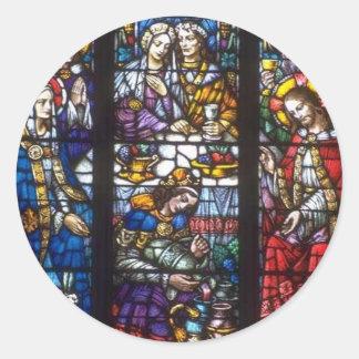 Church Windows 082 Round Sticker