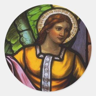 Church Windows 100 Round Sticker