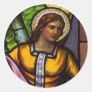 Church Windows 100sm Round Sticker