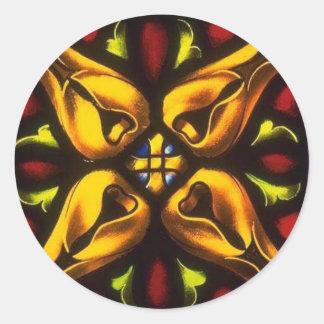 Church Windows 97 Round Sticker