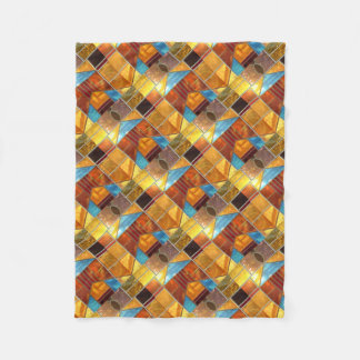 Church windows fleece blanket