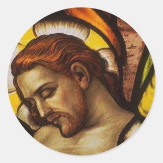 Church Windows Round Sticker