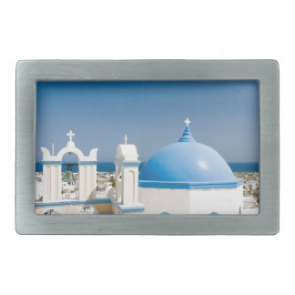 Churches With Blue Roofs Belt Buckle
