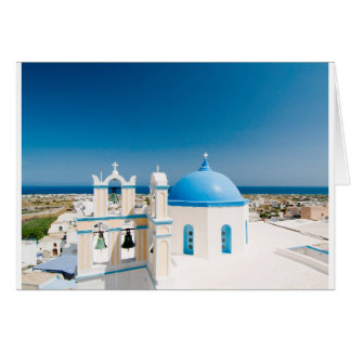 Churches With Blue Roofs Card