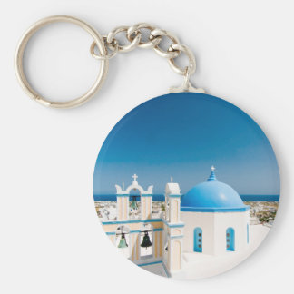 Churches With Blue Roofs Keychain