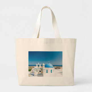 Churches With Blue Roofs Large Tote Bag