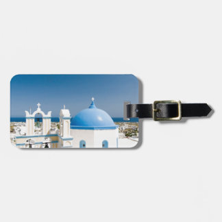 Churches With Blue Roofs Luggage Tag