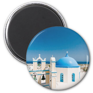 Churches With Blue Roofs Magnet