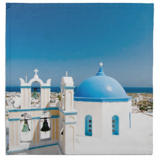 Churches With Blue Roofs Napkin