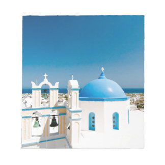 Churches With Blue Roofs Notepad