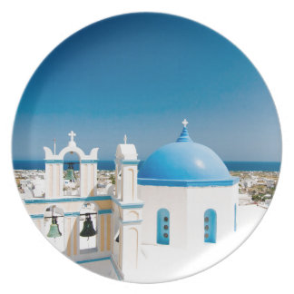 Churches With Blue Roofs Plate