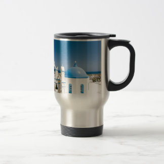 Churches With Blue Roofs Travel Mug