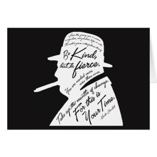 Churchill Dark Greeting Card