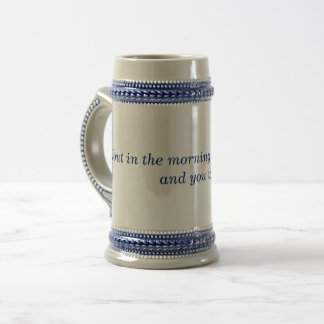 Churchill Drunk & Ugly Quote Stein