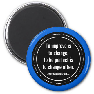 Churchill Inspirational Quote 2 Inch Round Magnet