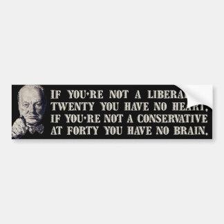 Churchill on Conservatives and Liberals Bumper Sticker