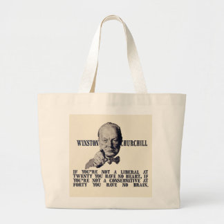Churchill on Conservatives and Liberals Jumbo Tote Bag