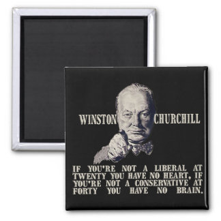 Churchill on Conservatives and Liberals Magnet